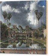 Balboa Park Fountain Wood Print