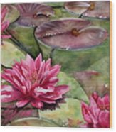 Balboa Water Lilies Wood Print