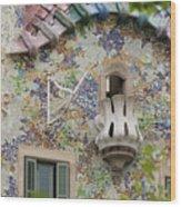 Balcionies Of Casa Batllo In Barcelona, Spain Wood Print