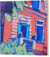 Balcone Wood Print
