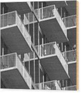 Balcony Colony Wood Print