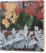 Balcony Garden Wood Print