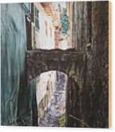 Balcony On The Arch Wood Print
