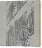 Balcony Railings Wood Print