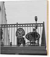 Balcony Table Wood Print