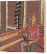 Balcony Usher Wood Print