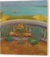 Balcony View On Milton Island Wood Print