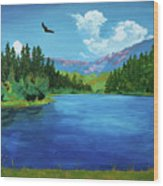 Bald Eagle At Hume Lake - Psalm 103 Verse 5 Wood Print