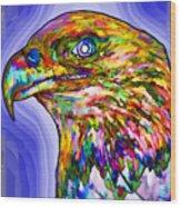Bald Eagle Face Wood Print