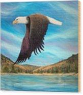 Bald Eagle Shuswap Rhapsody Wood Print