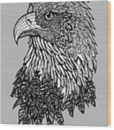 Bald Eagle Zentangle Wood Print