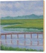 Bald Head Island Marsh Wood Print