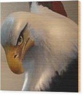 Bald-headed Eagle Sculpture Wood Print