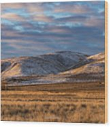 Bald Mountain At Dawn 2 Wood Print