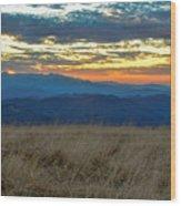 Bald Mountain Sunset Wood Print