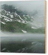 Balea Lake Panorama Romania Wood Print