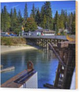 Balfour Bc Docks And Ferry  Wood Print