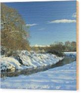Balheary  Demesne In The Snow Wood Print
