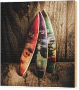 Bali Beach Surf Holiday Scene Wood Print
