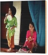 Bali Children Wood Print