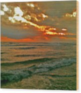 Bali Evening Sky Wood Print