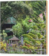 Bali Gardens Wood Print