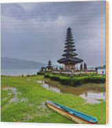 Bali Lake Temple Wood Print