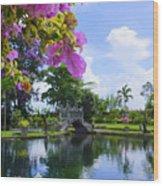 Bali Reflections Wood Print