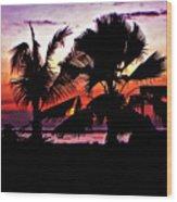 Bali Sunset Wood Print
