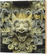 Bali Temple Art Wood Print