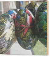 Bali Wooden Eggs Artwork Wood Print