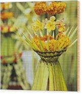 Balinese Ceremony Wood Print