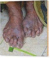 Balinese Lady's Feet Wood Print