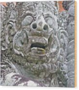 Balinese Temple Guardian Wood Print