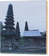Balinese Temple On Side Wood Print