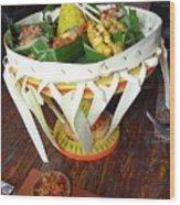 Balinese Traditional Dinner Basket Wood Print