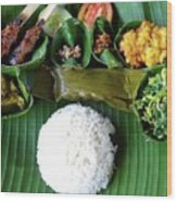 Balinese Traditional Lunch Wood Print
