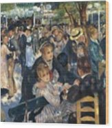 Ball At The Moulin De La Galette 1876 Wood Print