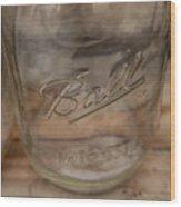 Ball Mason Jar Wood Print