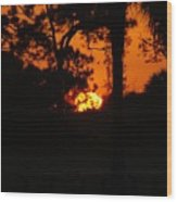 Ball Of Fire Wood Print