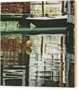 Ball On A Canal In Venice Wood Print