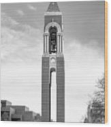 Ball State University Shafer Tower Wood Print by University Icons