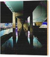 Ballard Bridge Wood Print