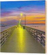 Ballast Point Sunrise - Tampa, Florida Wood Print