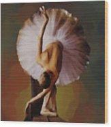 Ballerina Art 0421 Wood Print