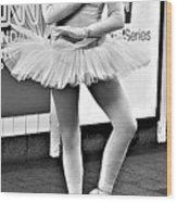 Ballerina B W Wood Print