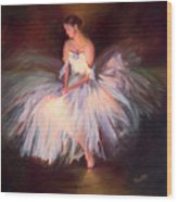 Ballerina Ballet Dancer Archival Print Wood Print