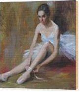 Ballerina D Wood Print