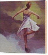 Ballerina Dance 0391 Wood Print