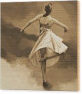 Ballerina Dance 0530 Wood Print